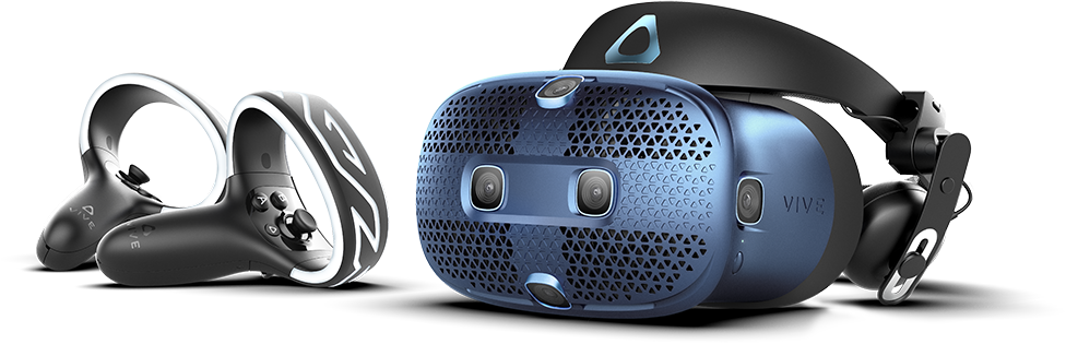 VIVE Cosmos headset and controllers